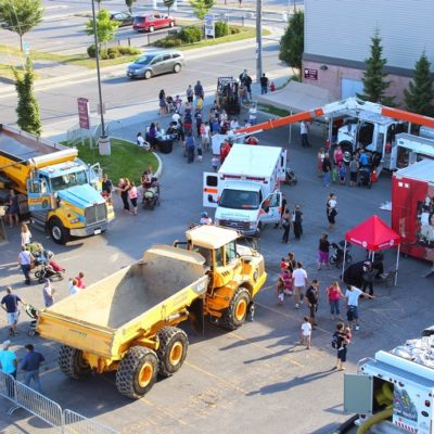 Touch- a -Truck Event at the GM Centre in Oshawa