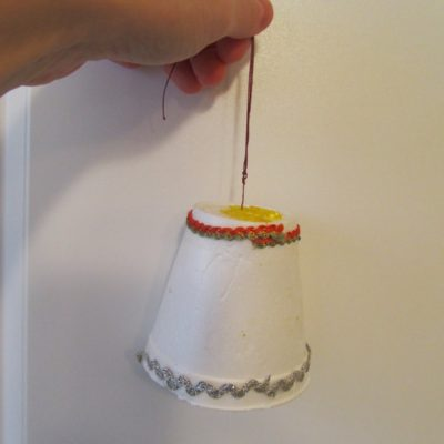 DIY Christmas Bell Ornament for kids
