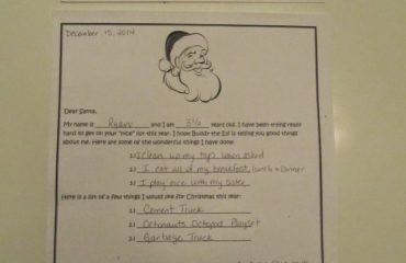 Letter to Santa Claus!