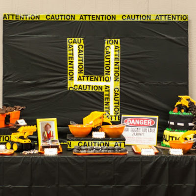 Creating a Construction Theme Birthday Party!