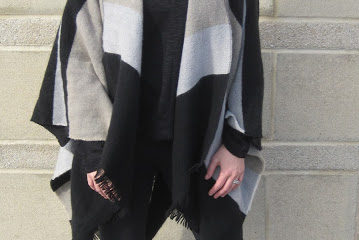 Heavy Striped Poncho