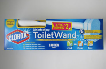 Click, Clean & Toss using Clorox Disinfecting ToiletWand Toilet Cleaning System!