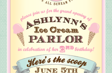 Creating an Ice Cream Parlor Birthday Party