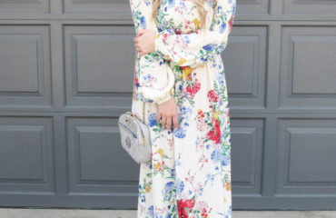 Long Off the Shoulder Floral Dress