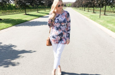 Floral Print Knit Top