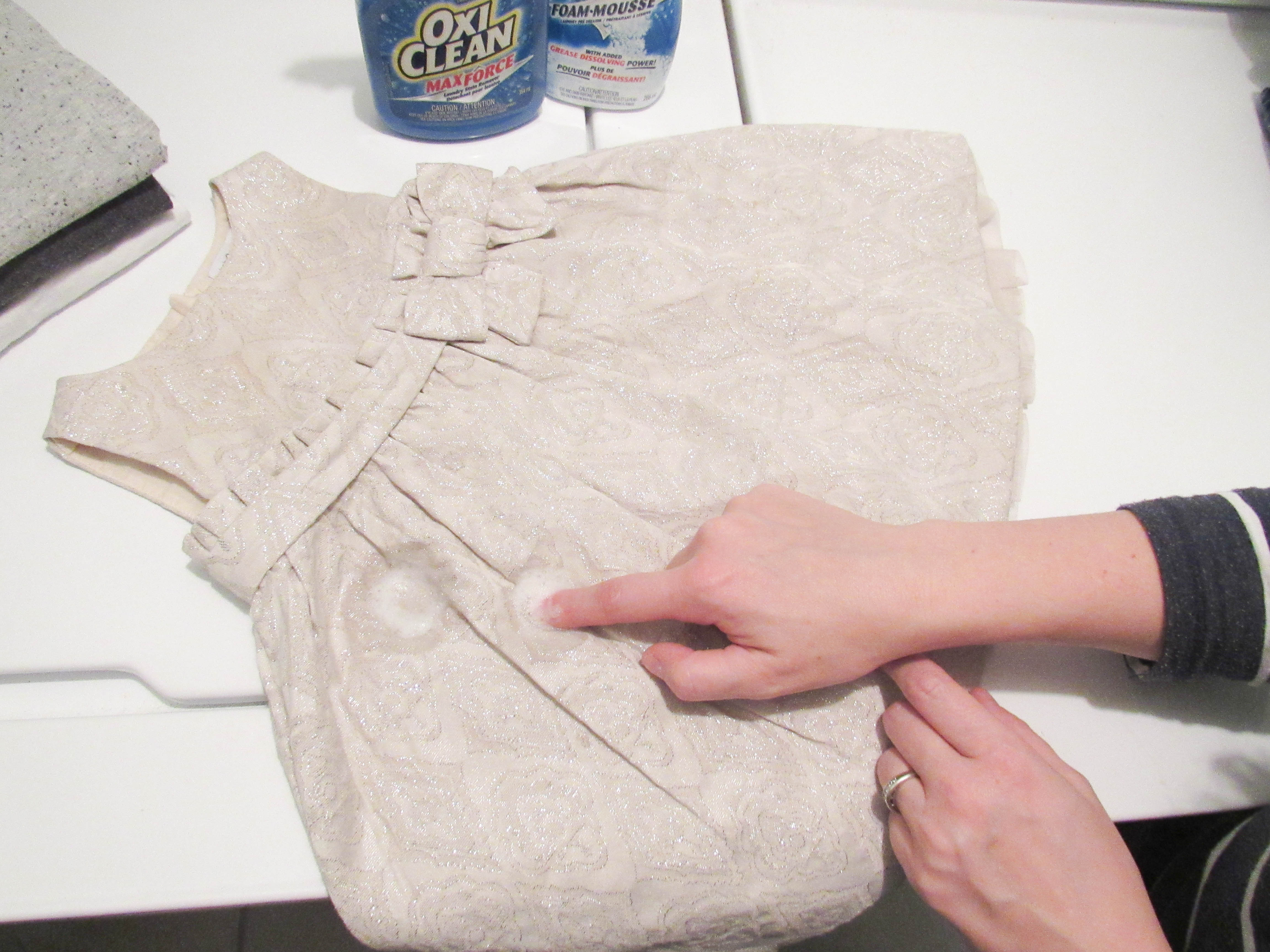 How to get stains out with OxiClean