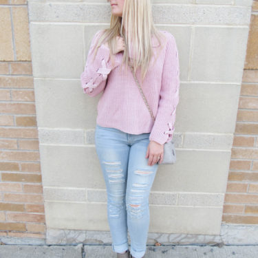 Lace-Up Sweater from Marshalls