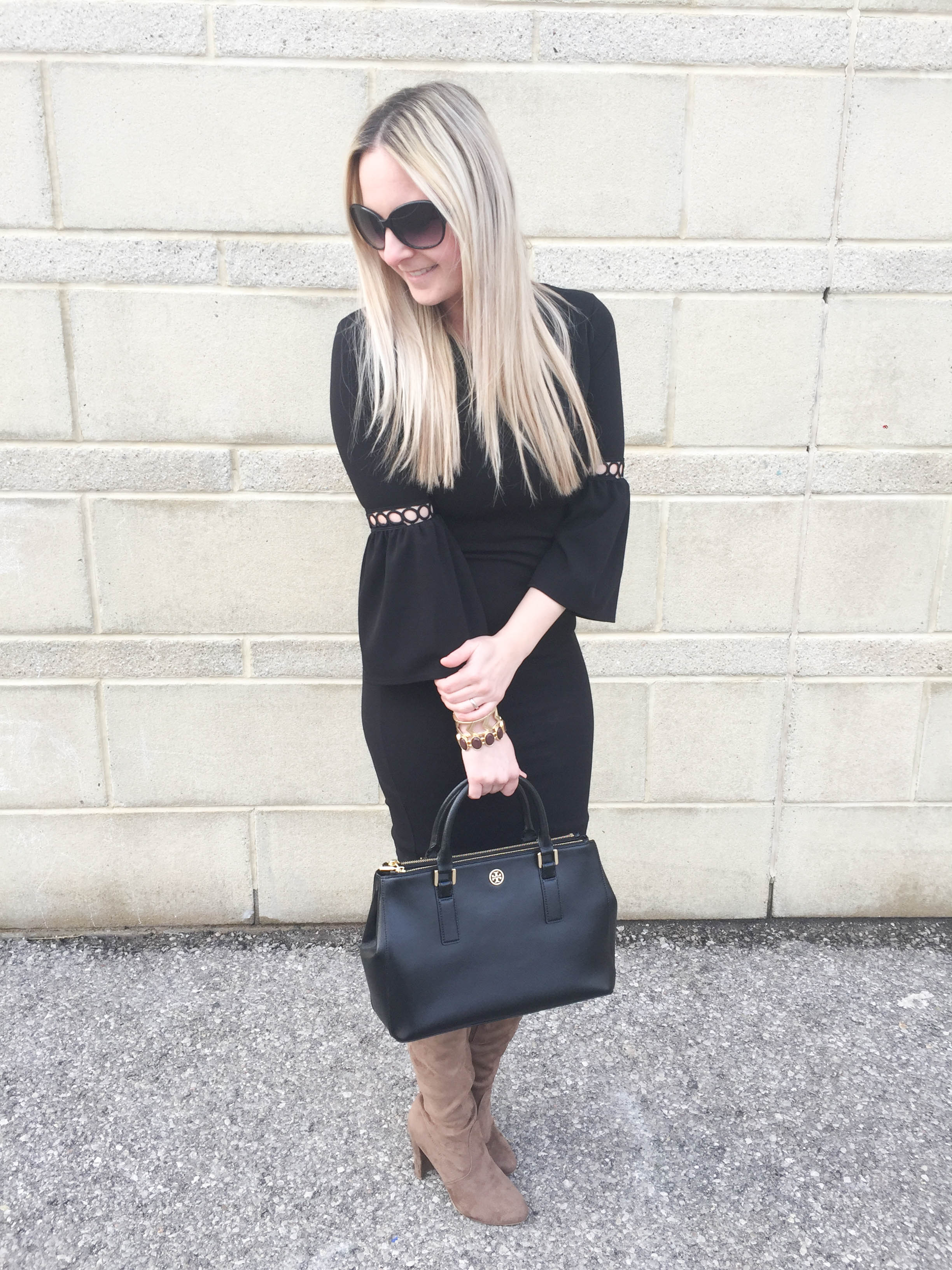 Pink Blush Black Dress on Livin' Life with Style