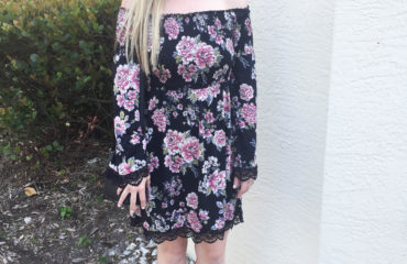 Smocked Off The Shoulder Floral Dress