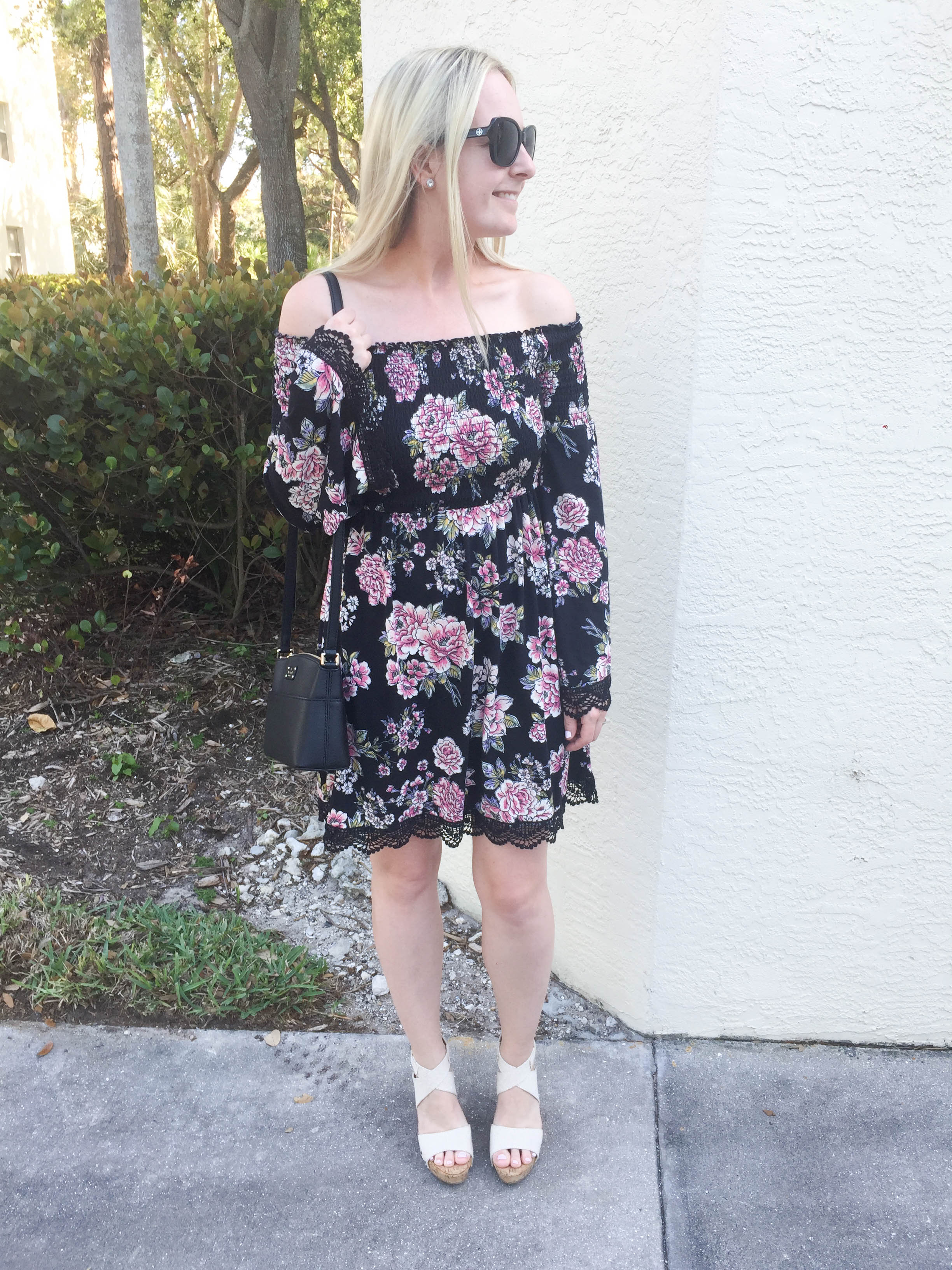 Target Lace and Floral Dress