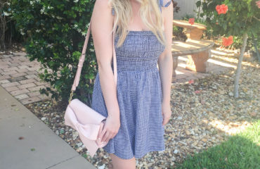 Black and White Gingham Dress on Livin' Life with Style