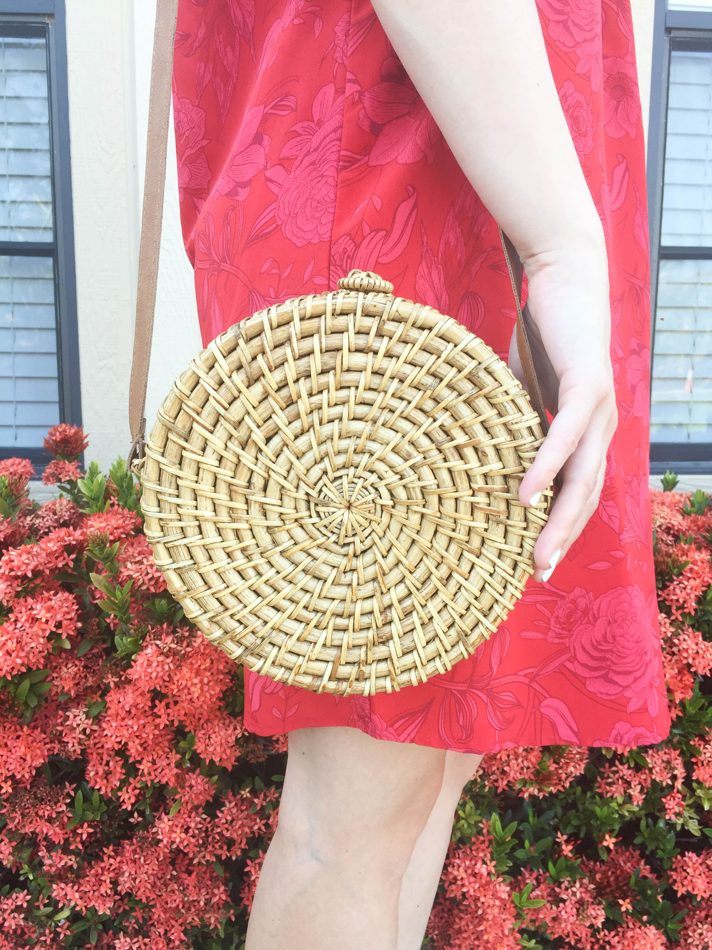 Round Straw Bag on Livin' Life with Style