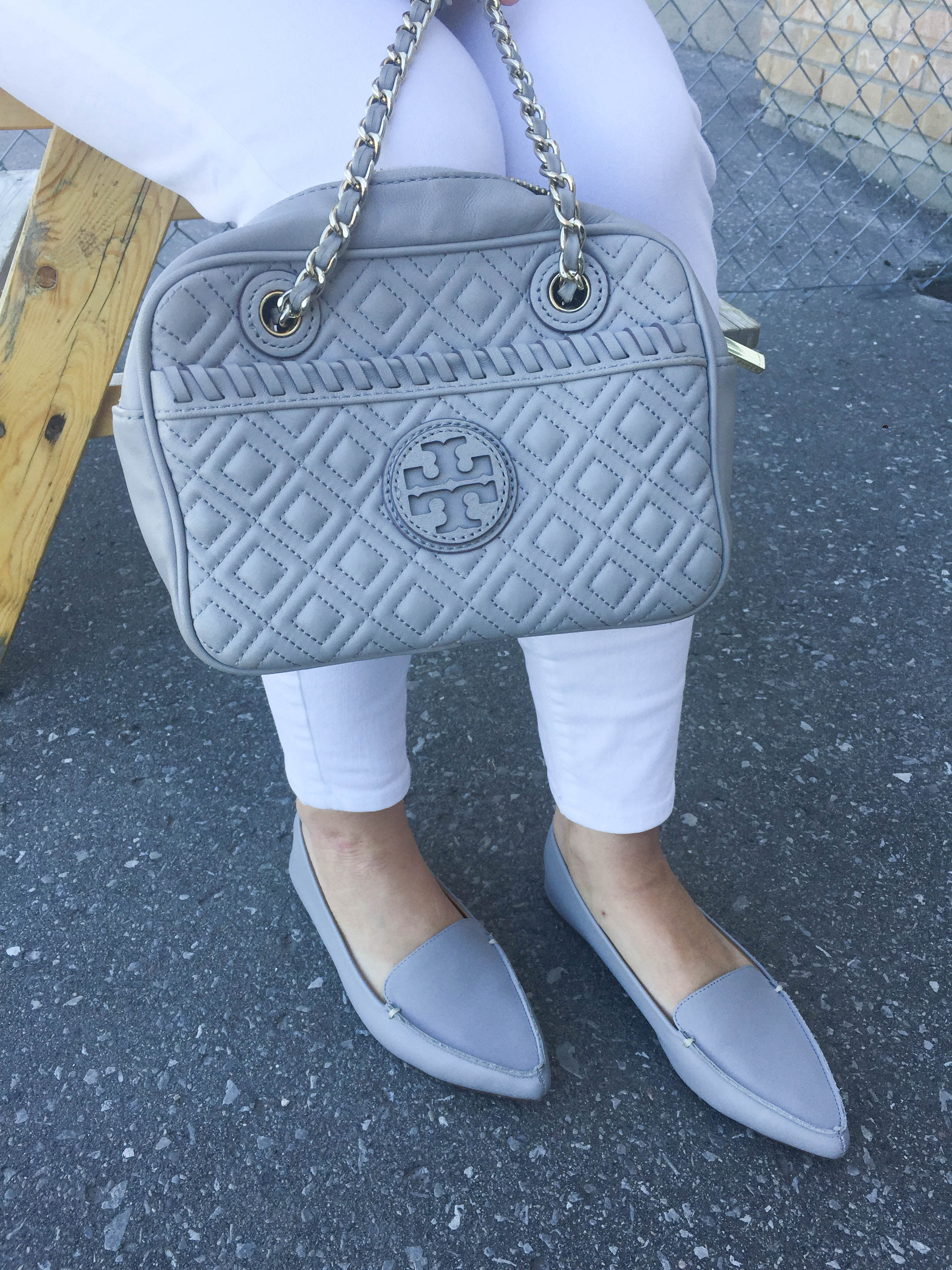 J Crew Flats & Tory Burch Bag