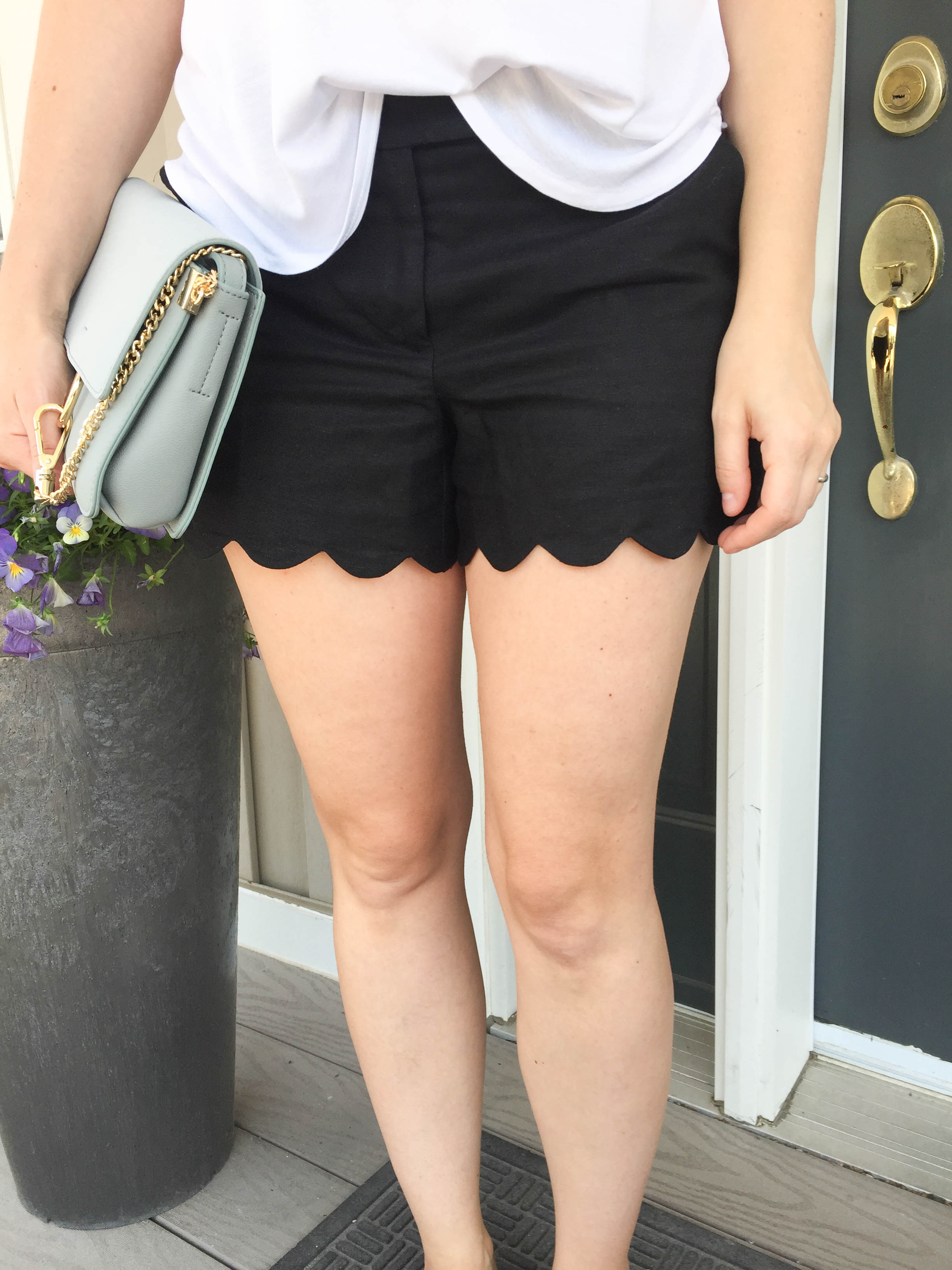 scalloped shorts from J Crew
