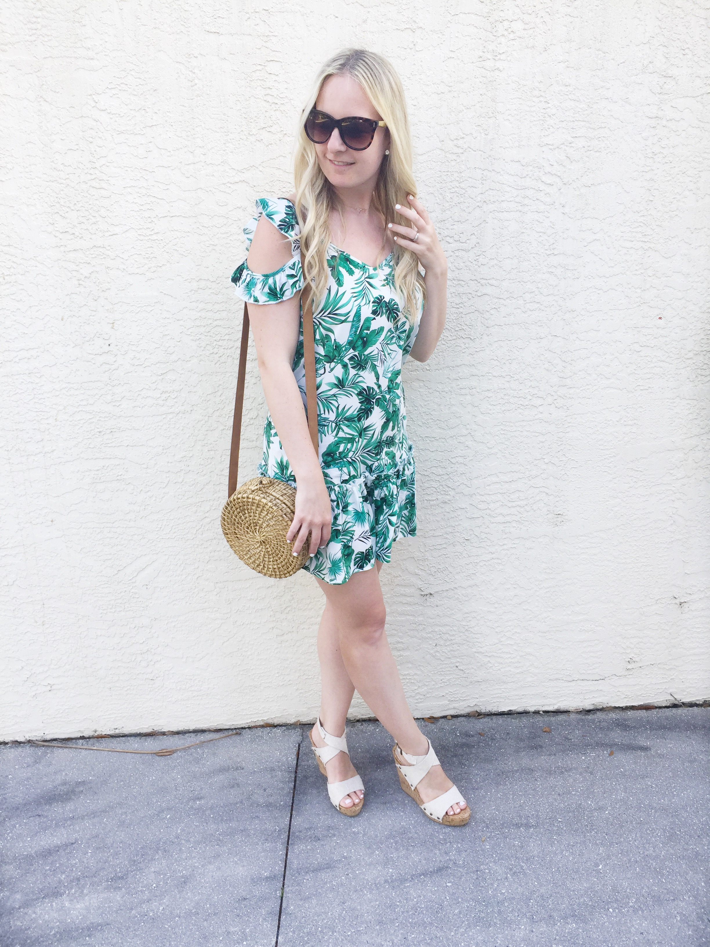 Palm Leaf Dress on Livin' Life with Style