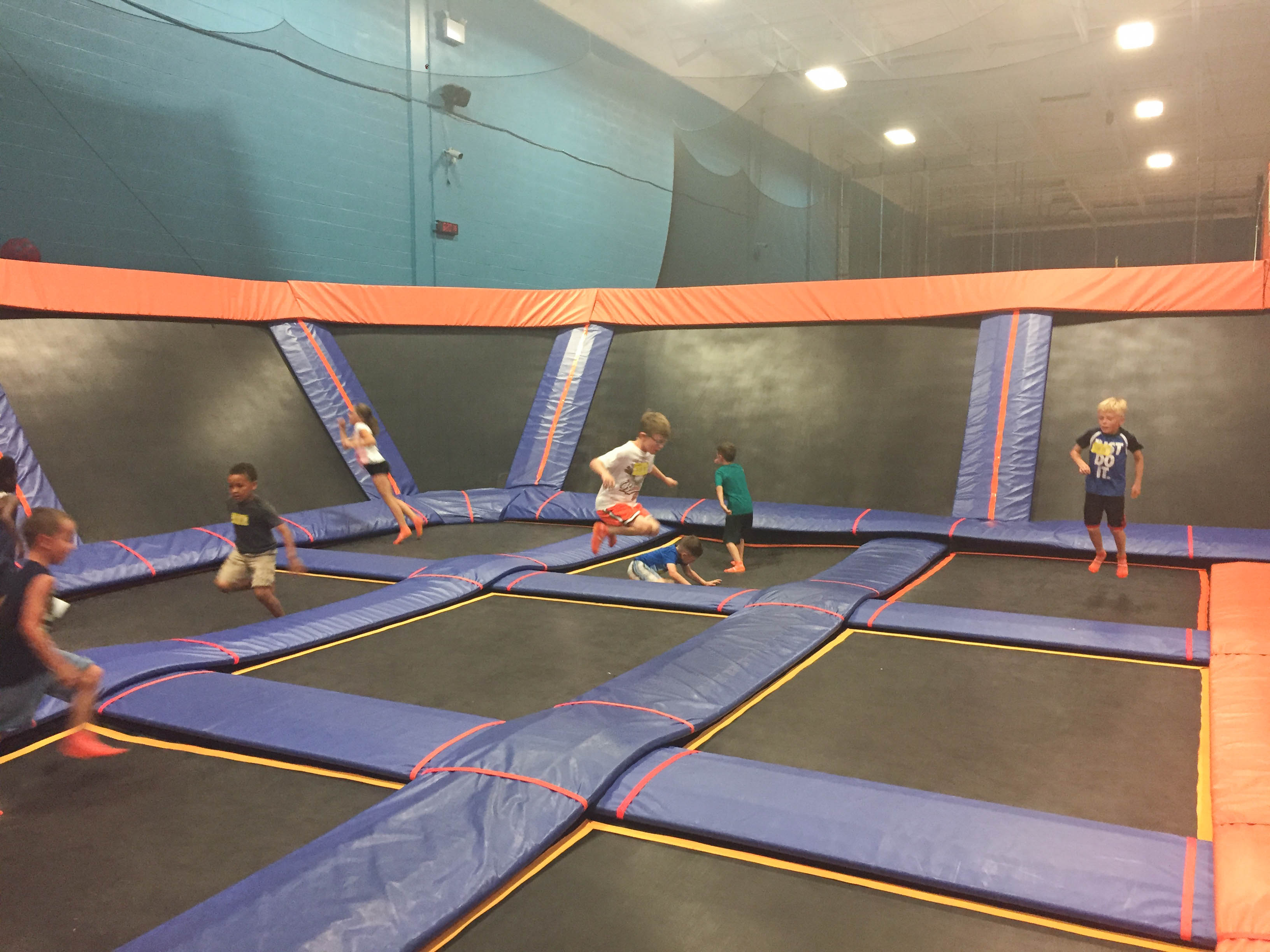 Sky Zone Trampoline Park Birthday Party; Dodgeball court; Livin' Life with Style