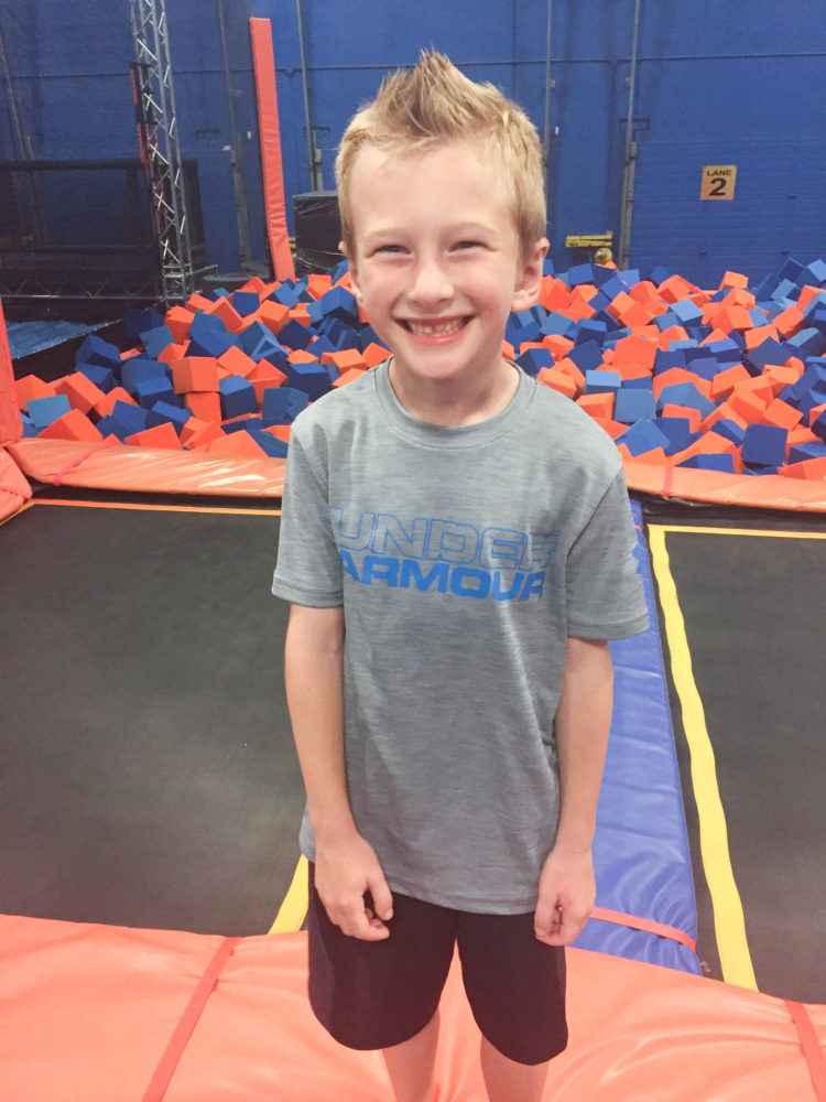 Sky Zone Trampoline Park Birthday Party; Foam Zone; Livin' Life with Style