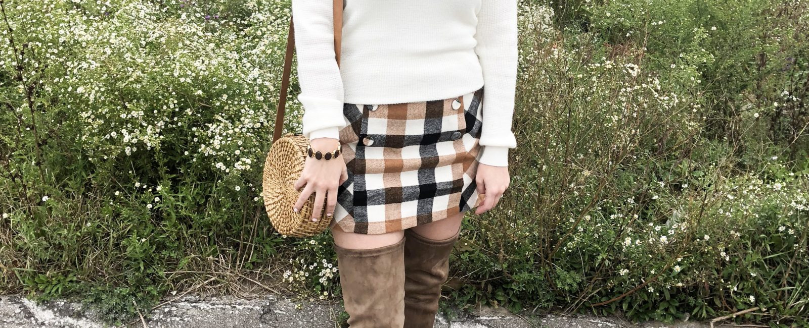 Fall Checkered Skirt