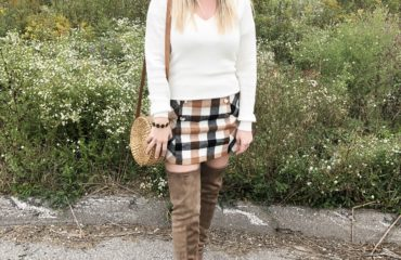 Forever 21 Plaid Skirt and Over the Knee Boots