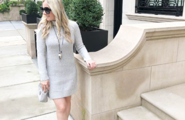 Grey Sweater Dress;Dynamite; Livin Life with Style