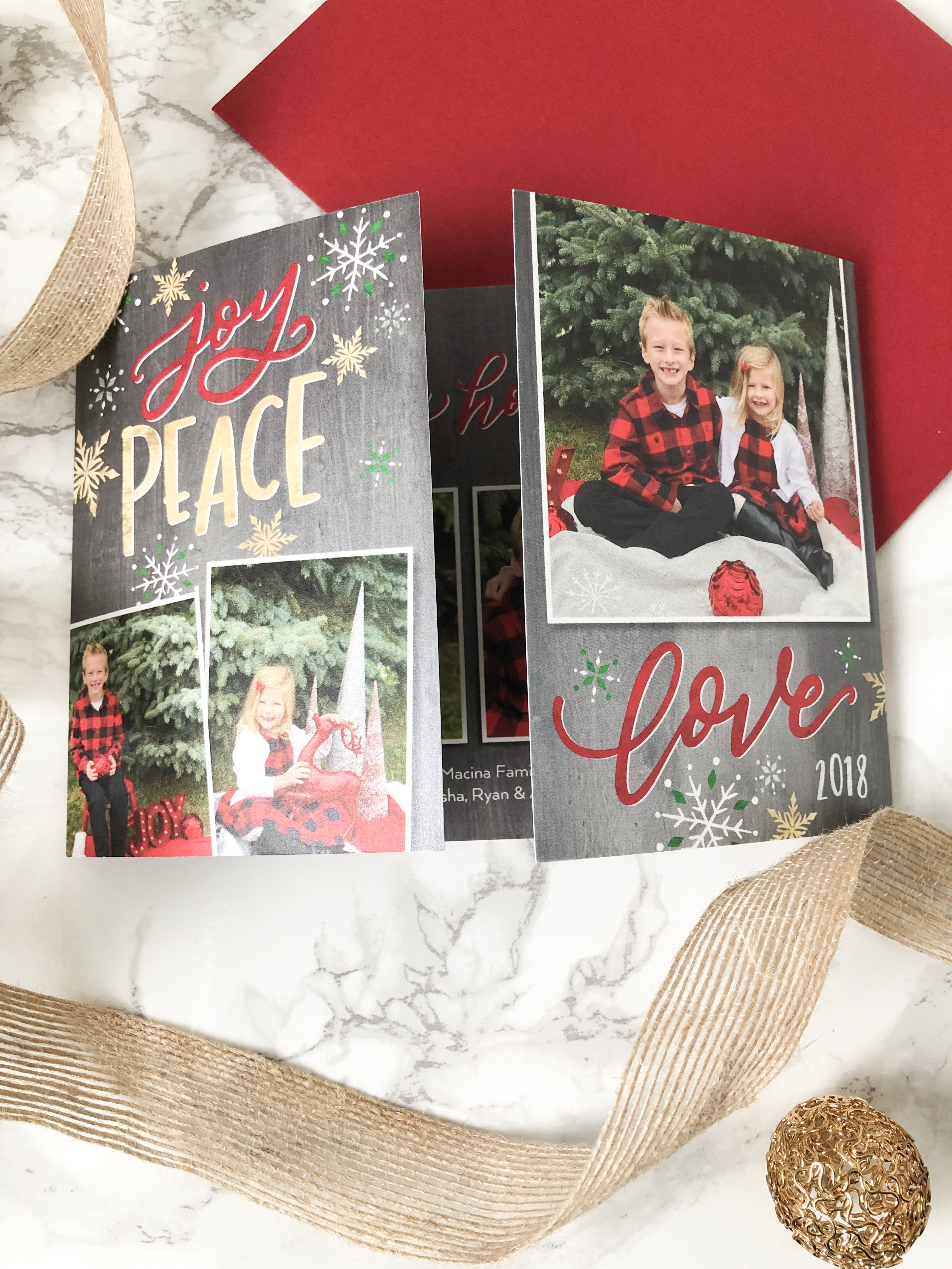 Gated Chrsitmas Card from Shutterfly on livin life with style