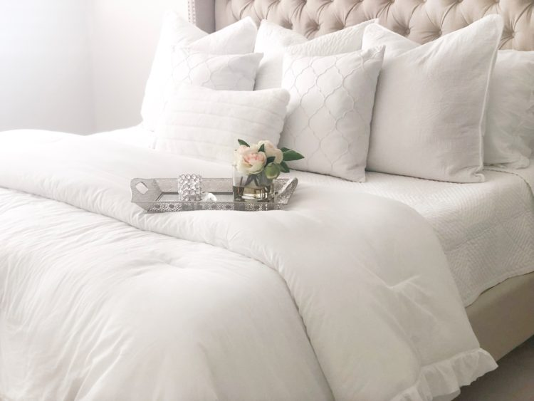 White Bedding - HomeSense; Livin Life with Style