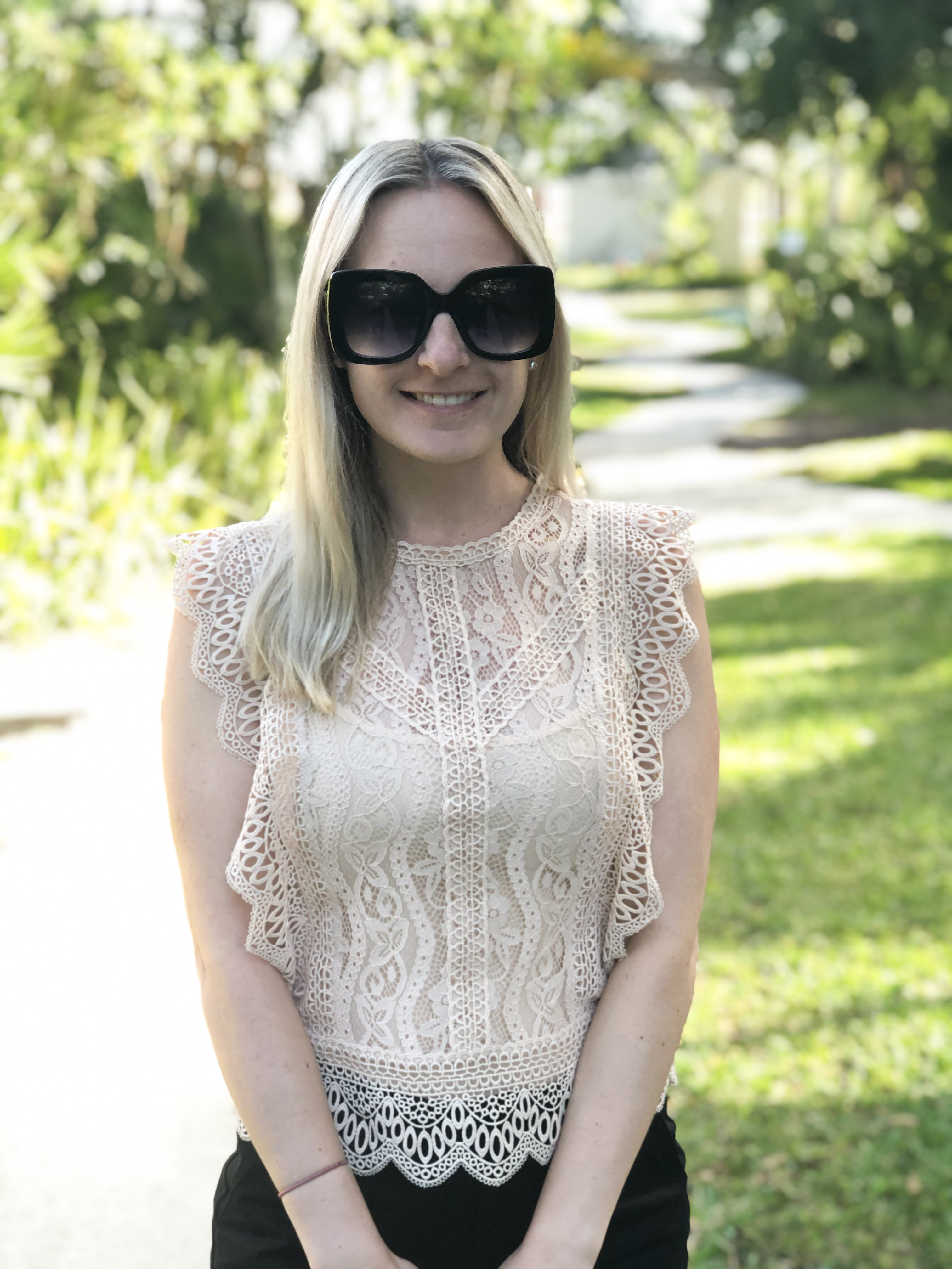 Lace Top from Zara on Livin' Life with Style