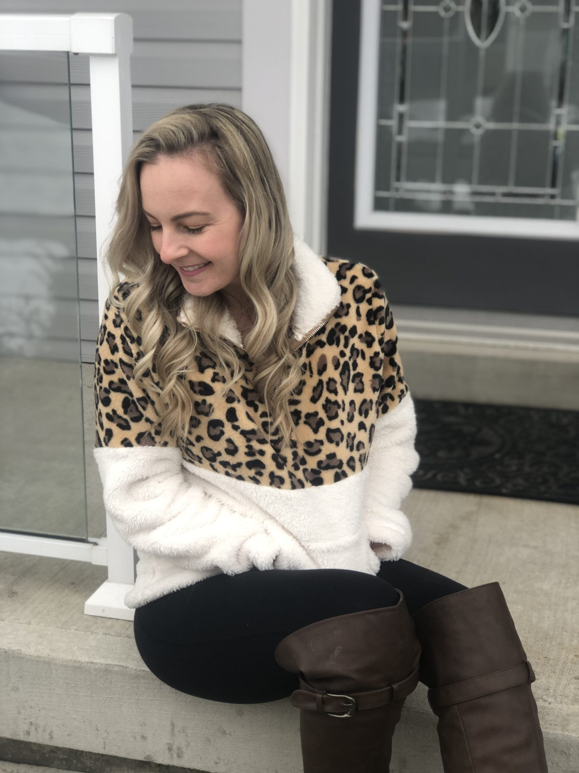 Fleece Leopard Sweater from Shein on Livin' Life with Style