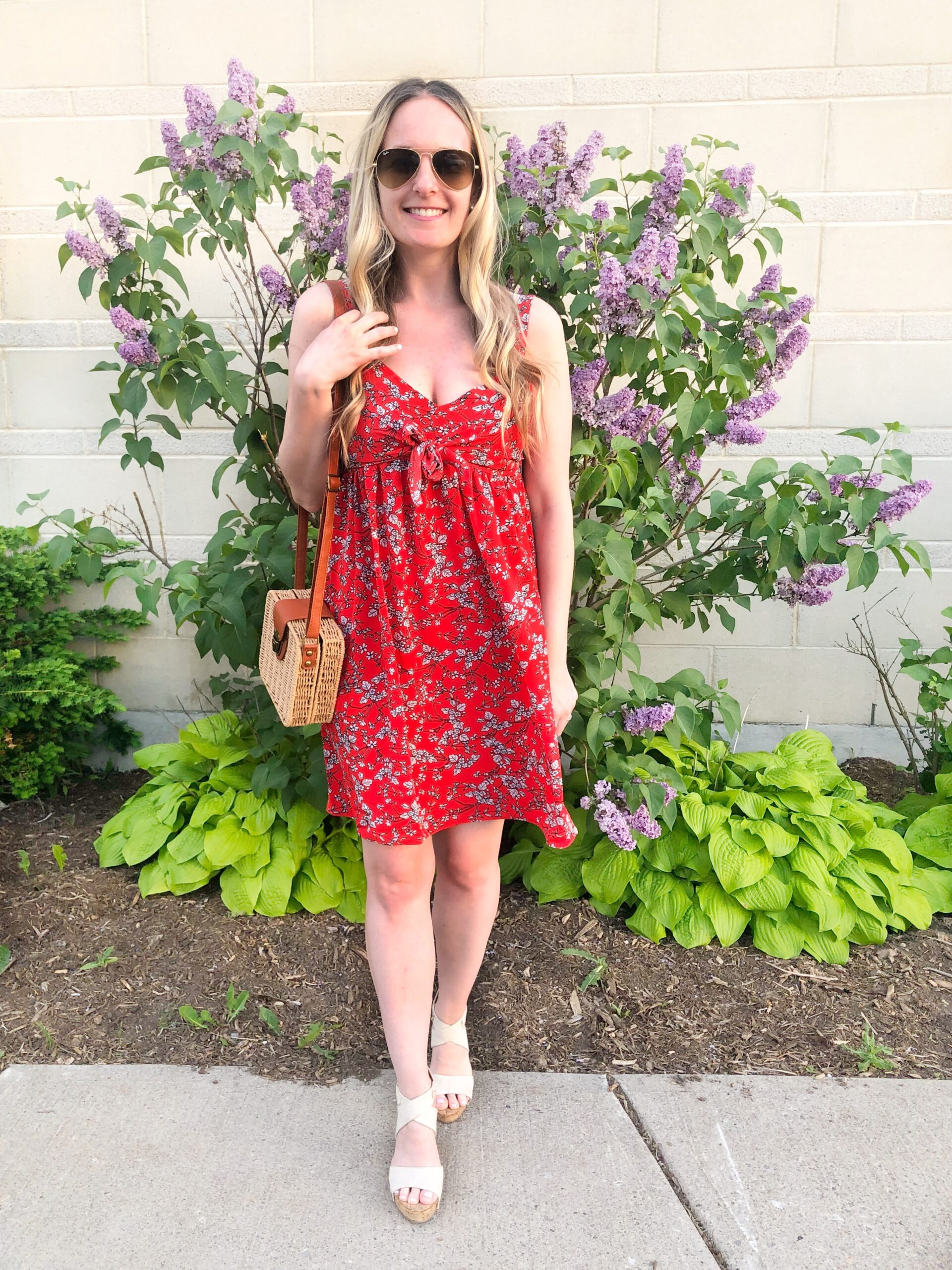 Red Dress with Pockets from Shein on Livin' Life with Style
