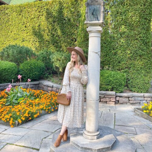 Cream Floral Dress from Pink Blush on Livin' Life with Style